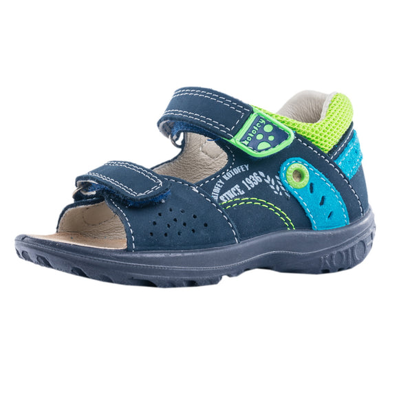 Toddler Boys Kotofey Leather Open Sandals Toddler 8 / 9 / 10 / 10.5 - Just Be Special