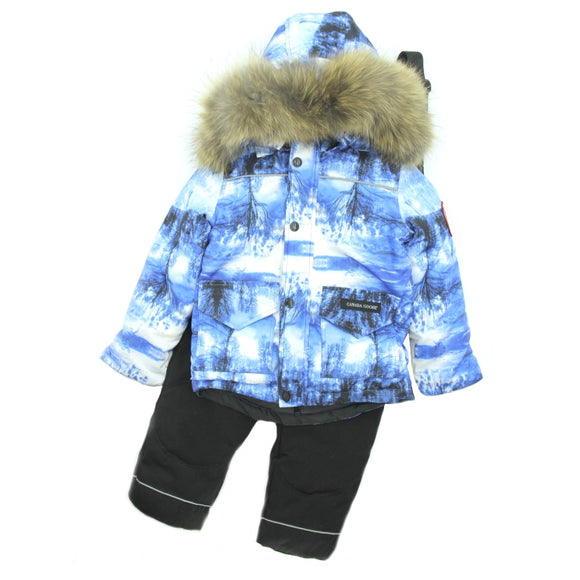 Boys Winter Canada Goose Down Jacket Overall Set - Just Be Special