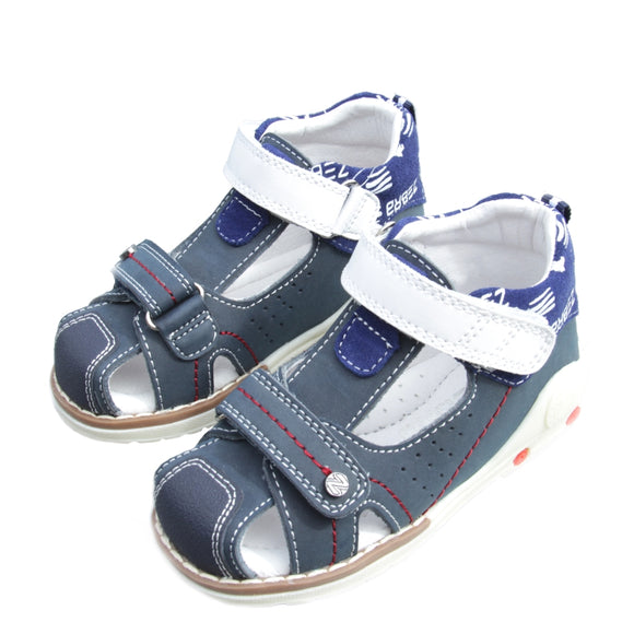 Toddler Boys High Orthopedic Leather Sandals - Just Be Special