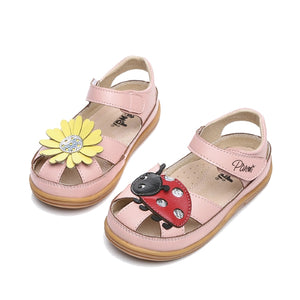 Toddler Girls Flower Ladybug Sandals Clearance Toddler 12 - Just Be Special