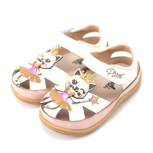 Toddler Girls Cat Design Sandals Clearance Toddler 6.5 - Just Be Special