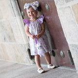 Sophia 3-Piece Dress Bow Bunny Toy Handmade Baby Girl Dress Set Clearance 6m / 9m / 12 months - Just Be Special