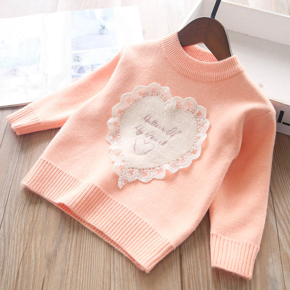 Toddler Girls Heart Design Angora Sweater 18m - 6 years