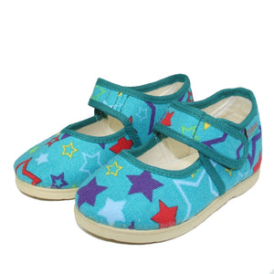 Toddler Girls Pure Cotton Orthopedic Star Design Slippers Clearance Toddler 10 - Just Be Special