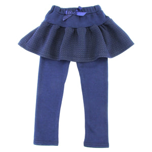 Toddler Girls Warm Winter Fleece Pants With Fluffy Skirt - Just Be Special