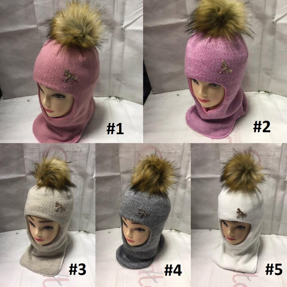 Toddler Girls Winter Warm Balaclava Hat 4 - 7 years - Just Be Special