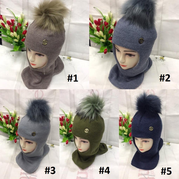 Toddler Boys Winter Warm Cozy Design Balaclava Hat 4 - 7 years - Just Be Special