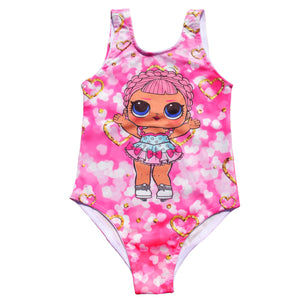 Toddler Girls LOL Princess Design Swimwear Clearance 1 / 4 years - Just Be Special