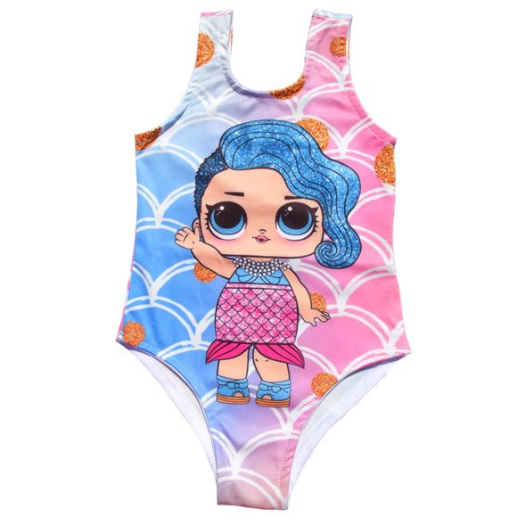 Toddler Girls LOL Mermaid Design Swimwear