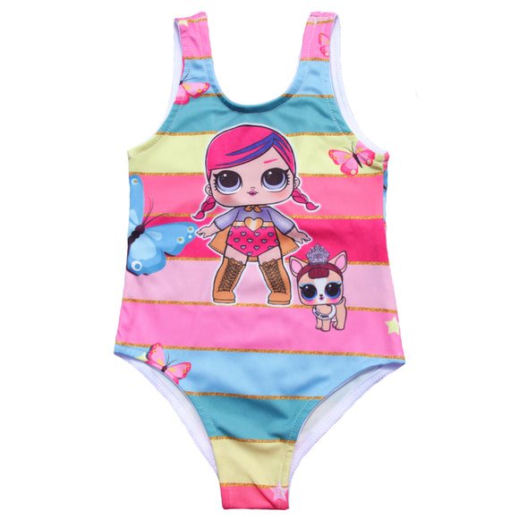 Toddler Girls LOL Rainbow Design Swimwear - Just Be Special