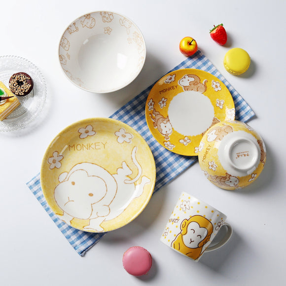 Kids 5-piece Monkey Tableware Set - Just Be Special