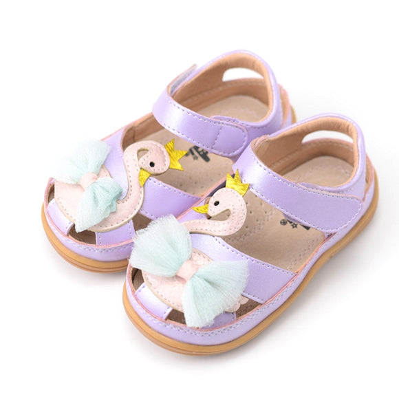 Toddler Girls Cute Swan Design Sandals Toddler 6.5 / 10.5 - Just Be Special
