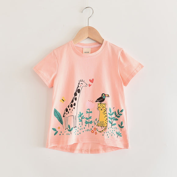 Toddler Girls Giraffe Cotton T-Shirt 3-4 / 7-8 / 8-9 years