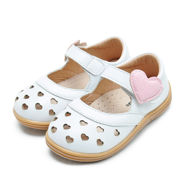 Toddler Girls White Heart Design Summer Sandals Toddler 6.5 - 12