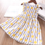 Toddler Girls Cute Lemon Design Cotton Dress 2-3 / 3-4 years