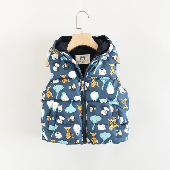 Toddler Boys Animal Design Vest 2 - 7 years - Just Be Special