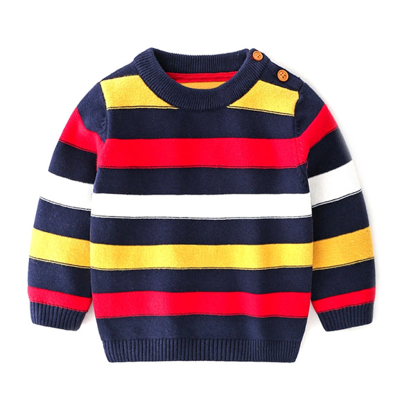 Toddler Boys Colorful Cotton Knit Sweater 6m - 2y - Just Be Special