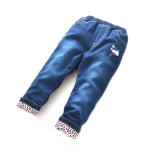Toddler Girls Warm Winter Flamingo Design Jeans 3-4 / 4-5 / 9-10 / 11-12 years - Just Be Special