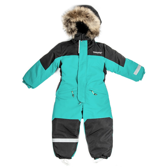 Toddler Boys Winter Waterproof Green Overall 3 - 7 years