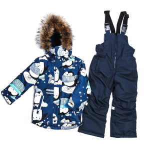 Toddler Boys Winter 2-Piece Penguin Jacket Overall Set Set 6-7 years - Just Be Special