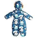 Toddler Boys Winter Waterproof Penguin Design Overall 2 years - Just Be Special