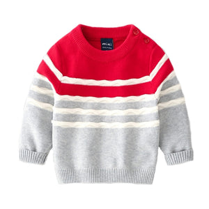 Toddler Boys Soft Cotton Knit Sweater 6m - 3 years - Just Be Special