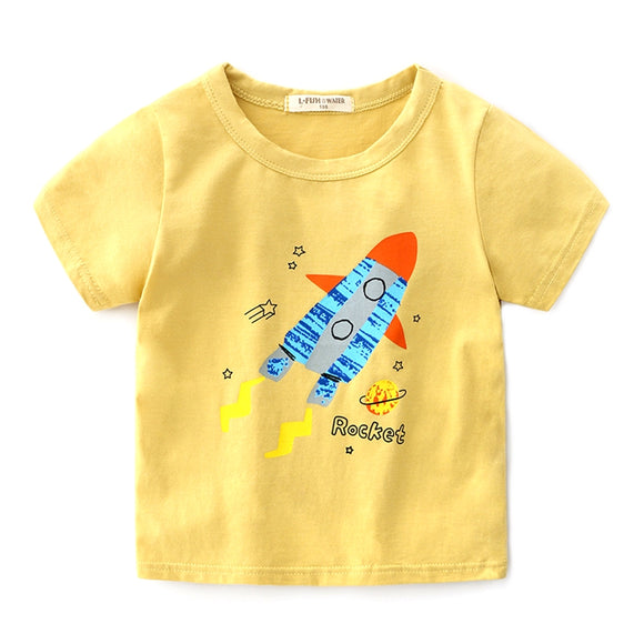 Toddler Boys Rocket T-shirt 3 - 8 years - Just Be Special