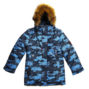 Boys Winter Warm Genuine Fur Colorful Jacket 9 / 10 years - Just Be Special