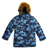 Boys Winter Warm Genuine Fur Colorful Jacket 7 - 10 years