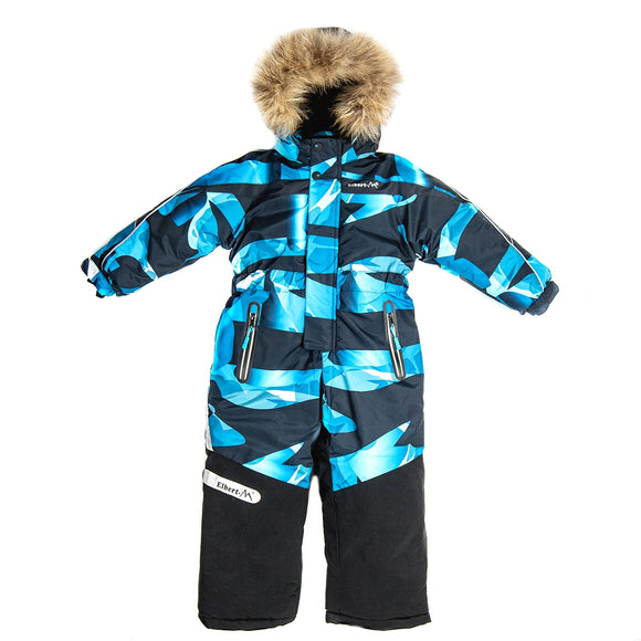 Boys Winter Warm Colorful Membrane Overall 5 - 10 years