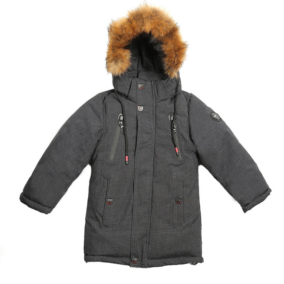 Toddler Boys Winter Warm Dark Grey Jacket 3 - 7 years