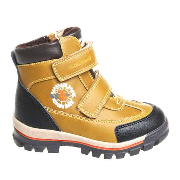 Toddler Boys Winter Genuine Sheep Wool Yellow Boots Toddler 10.5 - Youth 1.5 - Just Be Special
