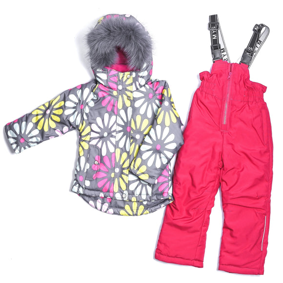 Toddler Girls Flower Design Membrane Winter Set 4 -8 years - Just Be Special