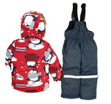 Toddler Girls Winter 2-Piece Penguin Jacket Overall Set 4-5 years - Just Be Special