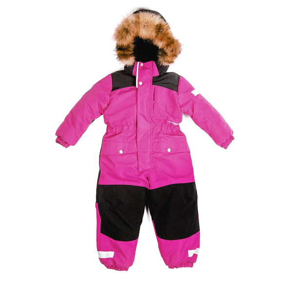 Toddler Girls Winter Waterproof Pink Overall 3 - 7 years