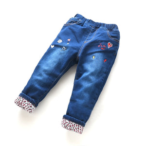 Toddler Girls Warm Winter Heart Design Jeans 4-5 / 9-10 / 11-12 years - Just Be Special