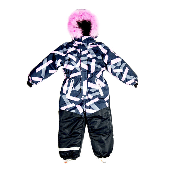 Girls Winter Warm Colorful Membrane Overall 9-11 years