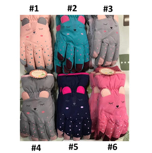 Girls Warm Waterproof Snow Gloves 7-9 / 9-12 years - Just Be Special
