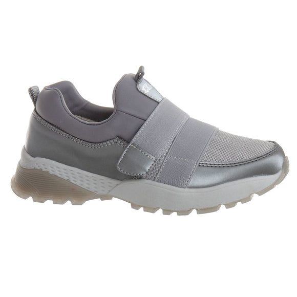 Youth Girls Sparkle Design Grey Sneakers Youth 3 - 5.5