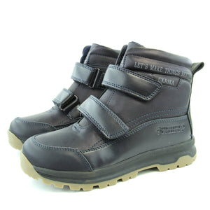 Youth Boys Winter Sheep Wool Dark Blue Boots Youth 4.5 - 5.5 - Just Be Special