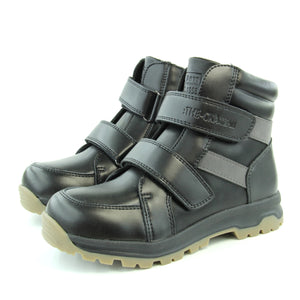 Youth Boys Winter Sheep Wool Black Boots - Just Be Special