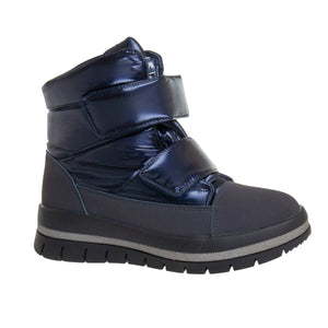Youth Girls Winter Sheep Wool Dark Blue Boots Youth 2.5 - 6 - Just Be Special
