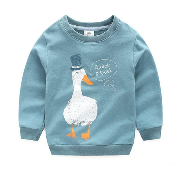 Toddler Boys Cotton Duck Design Sweatshirt 3 - 8 years - Just Be Special