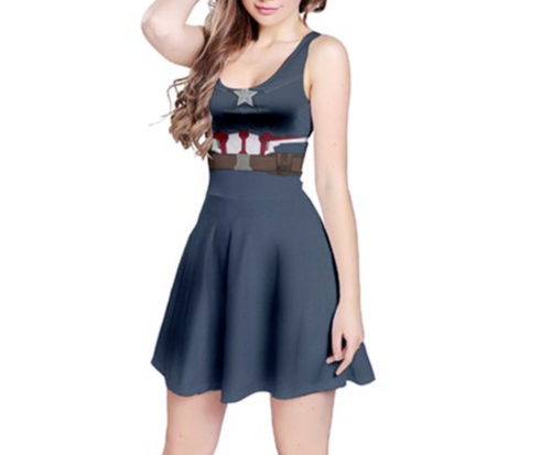 Captain America Inspired Sleeveless Dress