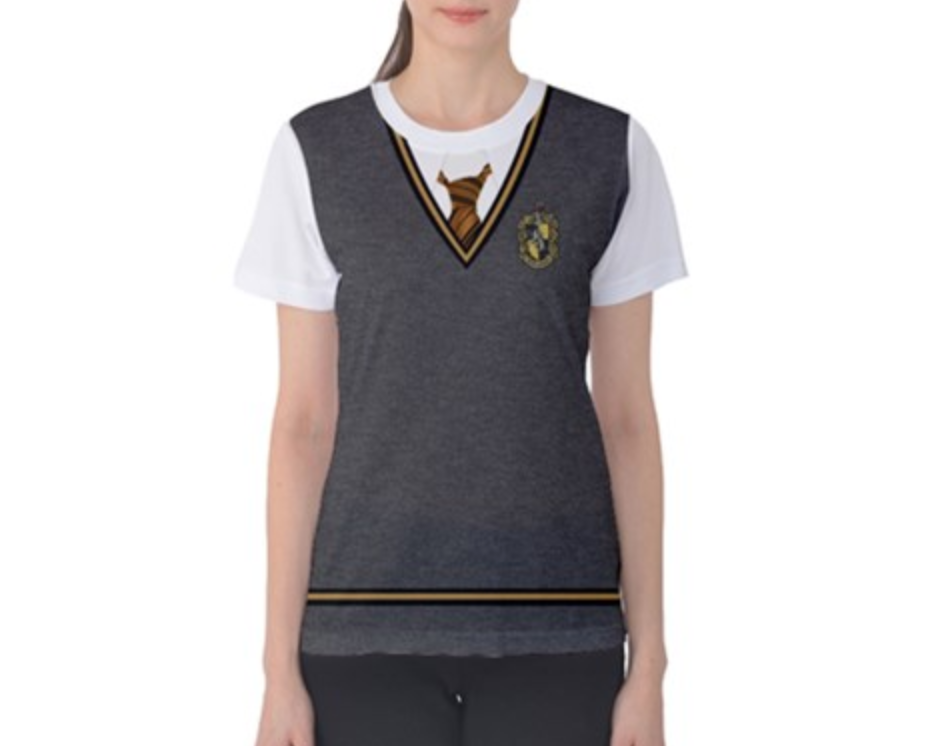 Women's Hufflepuff Harry Potter Inspired ATHLETIC Shirt