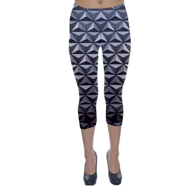 Epcot Spaceship Earth Inspired Capri Leggings