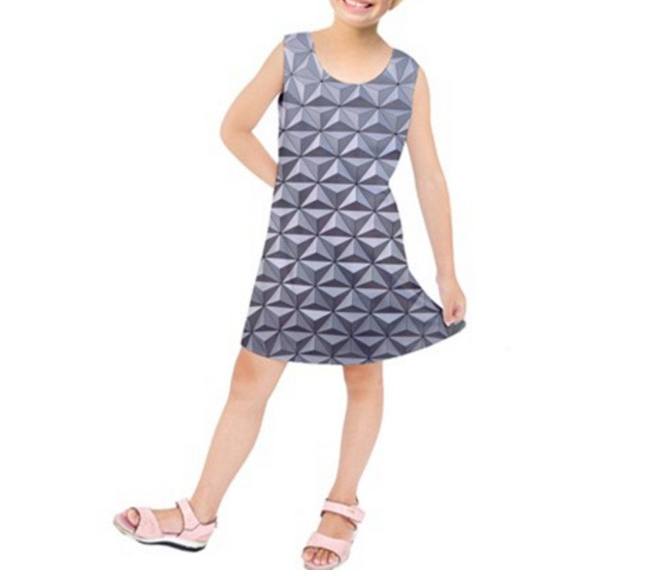 Kid's Epcot Spaceship Earth Inspired Sleeveless Dress