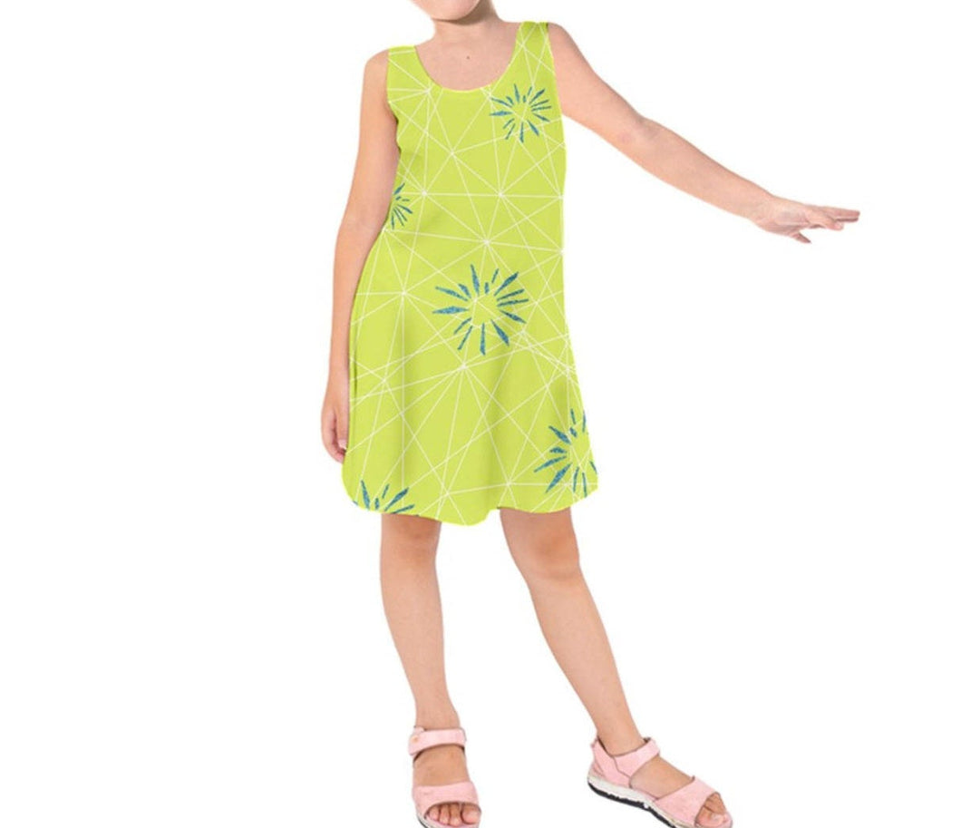 Kid's Joy Inside Out Inspired Sleeveless Dress