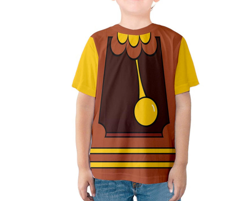 Kid's Cogsworth Beauty and the Beast Inspired Shirt