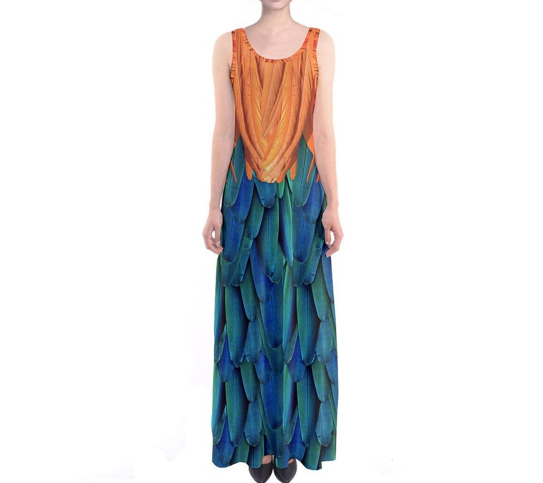 Heihei Moana Inspired Sleeveless Maxi Dress